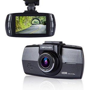 "DBPOWER A7 2.7"" FHD Dash Cam 2K 2560*1080, 170° Super Wide Angle Car DVR Camcorder Black Box Dashboard Recorder with G-sensor Loop Recording WDR Night vision, 6-Glass Lens, Chip Ambarella A7L50"