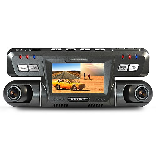REXING G600 Dash Cam Dual Front and Rear with 265 Degree Angle 1080P HD Dashboard Camera for Car Vehicle