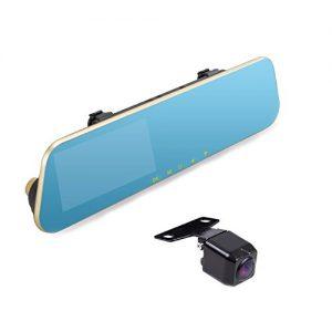 AUTO-VOX M2 1080P HD Dual lens Rearview Mirror Dash Cam