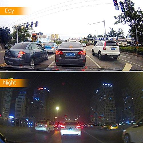 Dash Cam, APEMAN Dual Camera Full HD 1080P Dash Camera 170° Wide Angle Lens Car Camera G-Sensor DVR Dashboard Camera Digital Driving Recorder