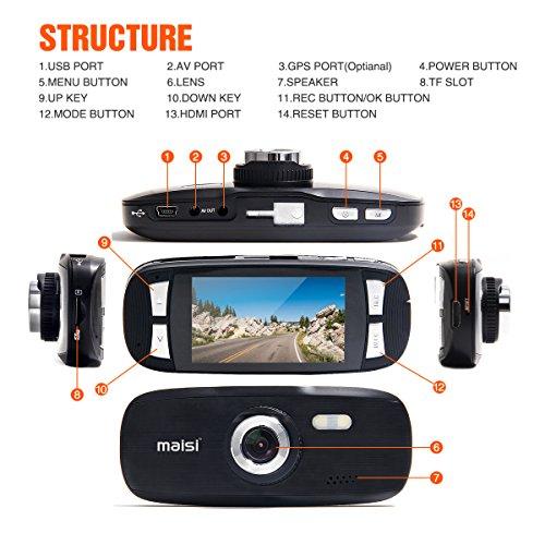 MAISI Full HD Color Car Dash Cam