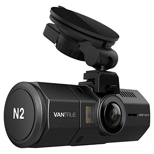 """Vantrue N2 Dual Dash Cam - 1080P FHD +HDR Front and Back Wide Angle Dual Lens 1.5"""" LCD In Car Dashboard Camera DVR Video Recorder with G-Sensor, Parking Mode & Super Night Vision"""