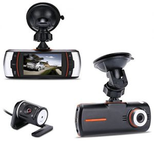 "Accfly A1 2.7"" 1080P HD Full LCD Dual Lens Dashboard Camera"