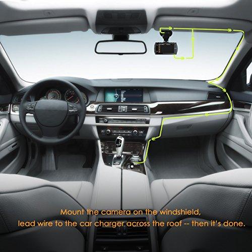 "Vantrue X2 in Car Dash Cam - 2.5K (2560x1440P +HDR) Super HD 2.7"" LCD Ambarella A12 Dashboard Camera DVR Video Recorder with F1.8 Wide View Angle Lens, WDR, G-Sensor, Super Night Vision & Parking Mode"