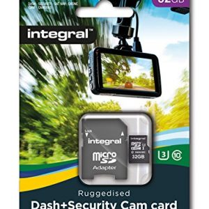 Integral INMSDH32G10-DSCAM 32 GB High Endurance Micro SD Memory Card for Dash Cams