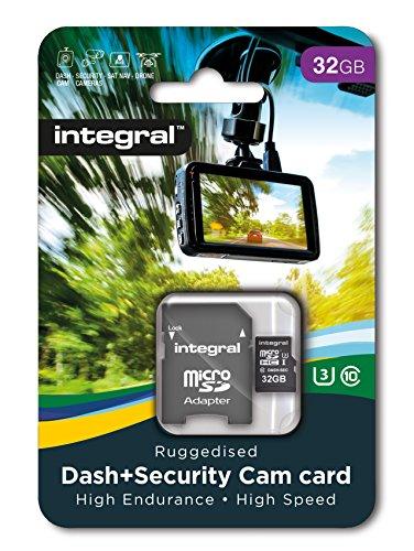 Integral INMSDH32G10-DSCAM 32 GB High Endurance Micro SD Memory Card for Dash Cams