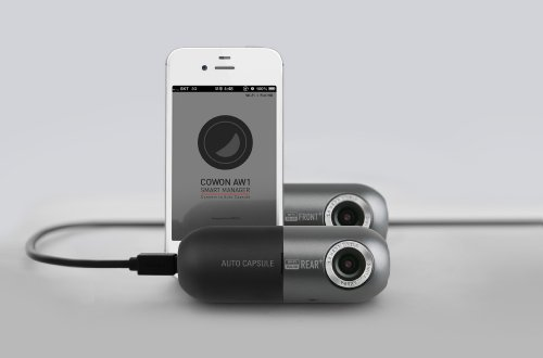Cowon AW2Action Camera Dashcam, Front/Rear, Silver