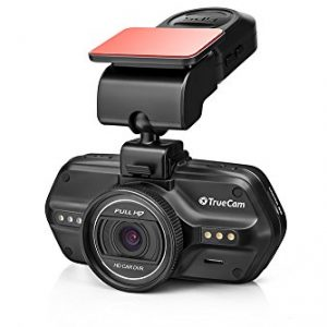 TrueCam A5s - Full HD Dashcam Car Camera with GPS, Speed Camera Detection, Display, Loop Recording, G-Sensor, and Parking Mode