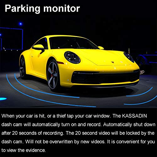 KASSADIN Dash Cam Front and Rear Camera 1080P