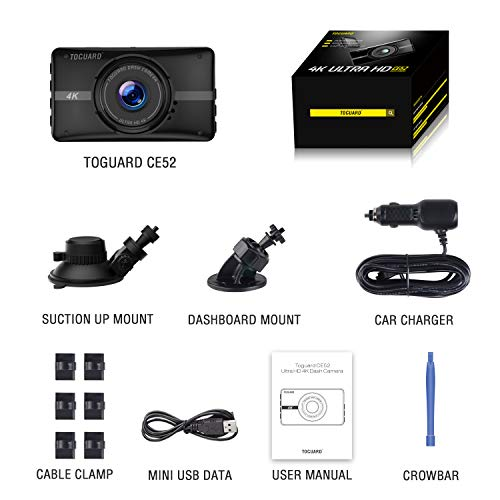 TOGUARD Dash Cam 4K Ultra HD in Car Camera Driving Video Recorder 3″ LCD Dashboard Camera for Cars with Night Vision, 170°Wide Angle, G-Sensor, Loop Recording, 24H Parking Monitor