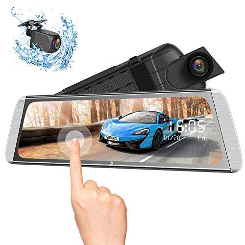 Campark Mirror Dash Cam Full HD DVR Dashboard Camera