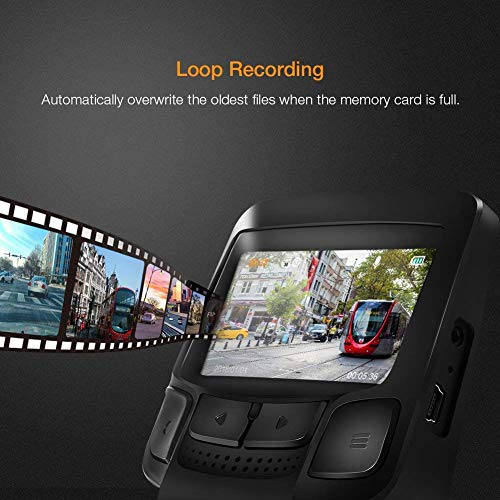APEMAN WiFi Dash Cam, 1080P Full HD Sony Sensor Dash Camera for Cars with Super Night Vision, 2.45 Inches IPS Display, Loop Recording, Motion Detection, G-Sensor, Parking Monitoring
