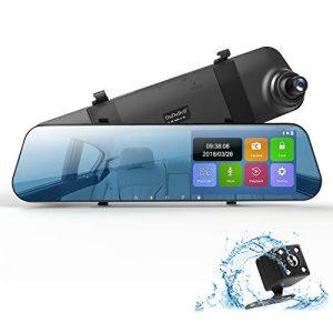 DuDuBell Dash Cam, 4.3? Touch Screen Mirror Dash Cam