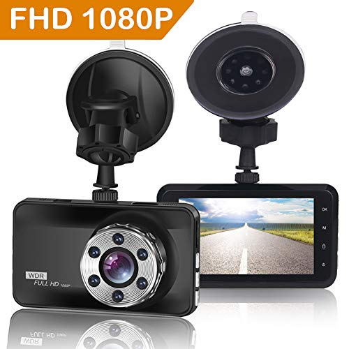 ORSKEY Dash Cam 1080P Full HD Car Camera DVR Dashboard Camera Video Recorder In Car Camera Dashcam for Cars 170 Wide Angle WDR with 3.0″ LCD Display Night Vision Motion Detection and G-sensor